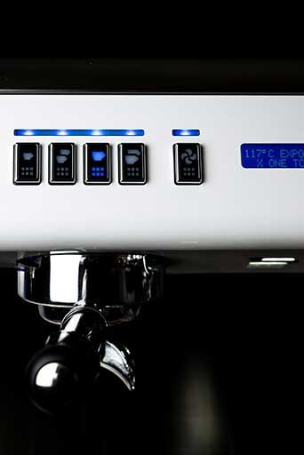 Conti X-One TCI espresso machine button display
