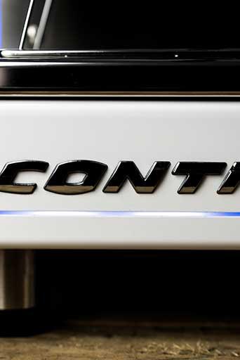 Conti X-One TCI espresso machine logo with LED lighting