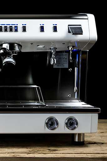 Conti X-One TCI espresso machine (white) Front View right hand side