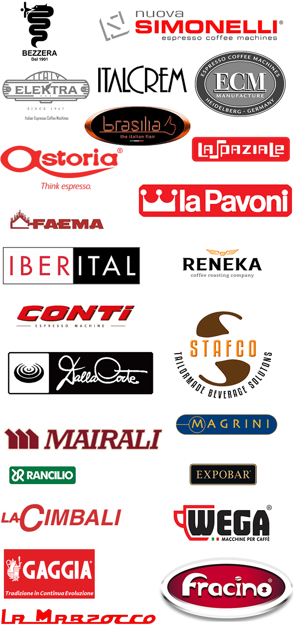 We can service nearly any make of espresso machine including these manufacturers